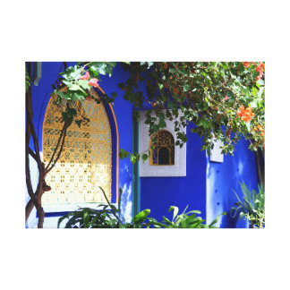 Moroccan window canvas print