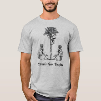MOROCCANS WITH PALM TREE, Dean's Bar, Tangier T-Shirt