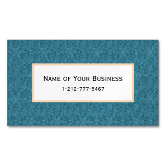 MoroccanTeal Arabesque Magnetic Business Cards