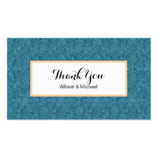 MoroccanTeal Arabesque Pack Of Standard Business Cards