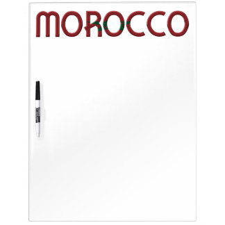 Morocco Africa Moroccan Flag Colors Typography Dry-Erase Board