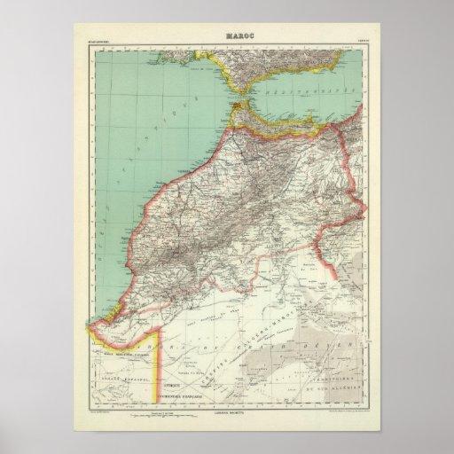 Morocco and Algeria Poster