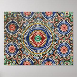 morocco arab mosaic islam religious pattern poster