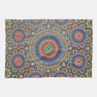 morocco arab mosaic islam religious pattern tea towel