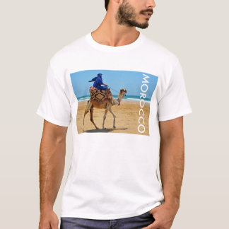 morocco arab ride camel seaside beach T-Shirt