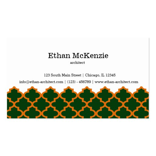 Morocco artchitect business card templates