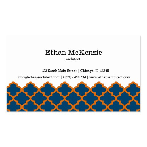 Morocco artchitect business card template