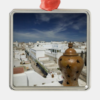 MOROCCO, Atlantic Coast, ESSAOUIRA: High Vantage Silver-Colored Square Decoration