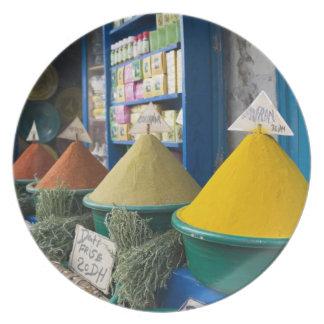 MOROCCO, Atlantic Coast, ESSAOUIRA: Spice Market Plate