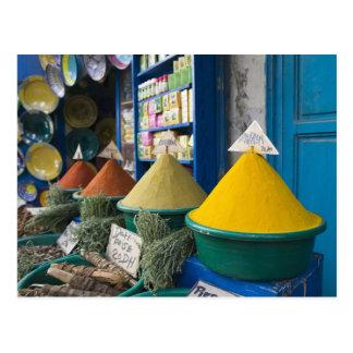 MOROCCO, Atlantic Coast, ESSAOUIRA: Spice Market Postcard