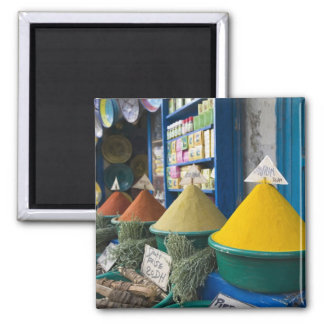 MOROCCO, Atlantic Coast, ESSAOUIRA: Spice Market Square Magnet