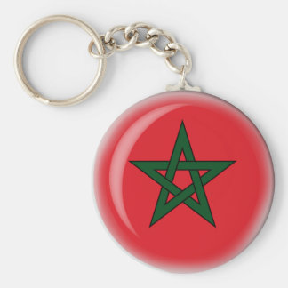 Morocco Basic Round Button Key Ring