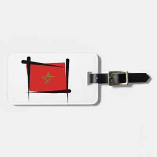 Morocco Brush Flag Tag For Luggage