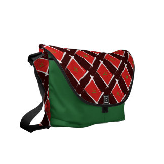 Morocco Brush Flag Courier Bag