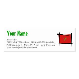 Morocco Brush Flag Pack Of Skinny Business Cards