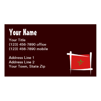Morocco Brush Flag Pack Of Standard Business Cards