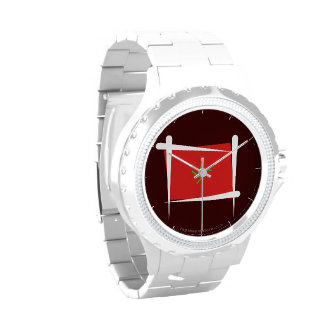 Morocco Brush Flag Wrist Watches