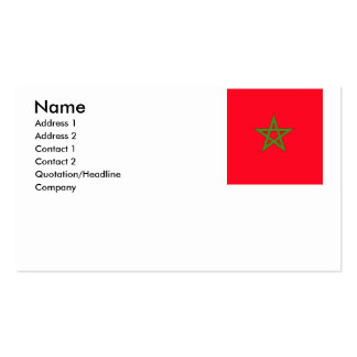 Morocco Pack Of Standard Business Cards