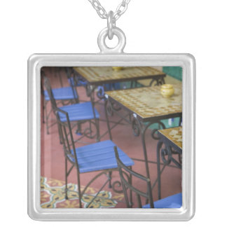 MOROCCO, Casablanca: Ancienne (old) Medina, Silver Plated Necklace