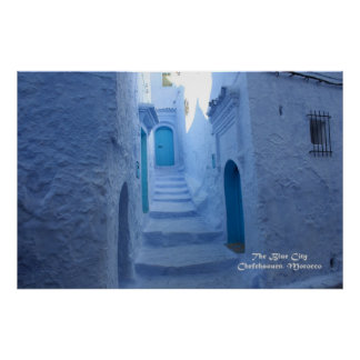 Morocco, Chefchaouen, The Blue City Poster