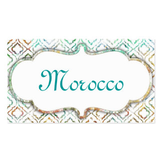 Morocco Clean Pack Of Standard Business Cards