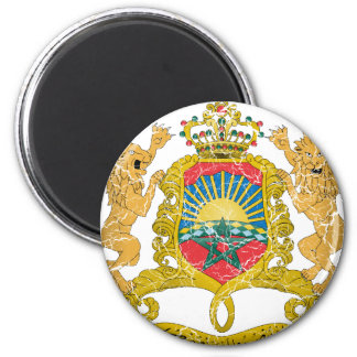 Morocco Coat Of Arms 6 Cm Round Magnet