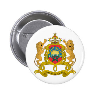 Morocco Coat Of Arms Button