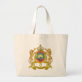 Morocco Coat Of Arms Tote Bags