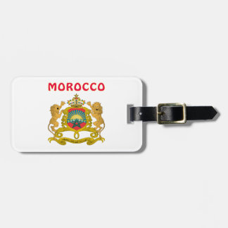 Morocco Coat Of Arms Bag Tag