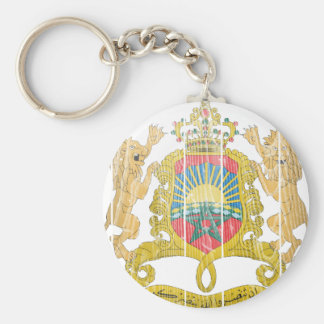Morocco Coat Of Arms Basic Round Button Key Ring