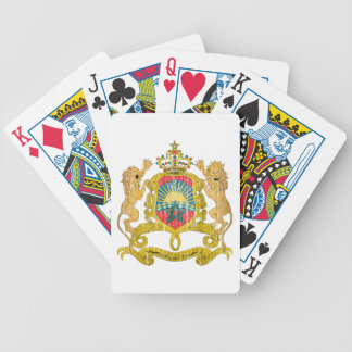 Morocco Coat Of Arms Bicycle Poker Deck