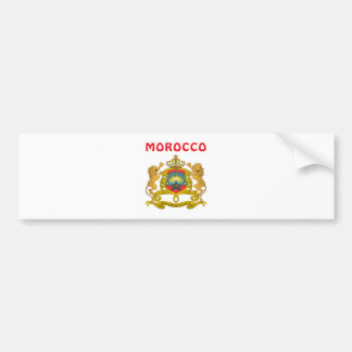 Morocco Coat Of Arms Bumper Stickers