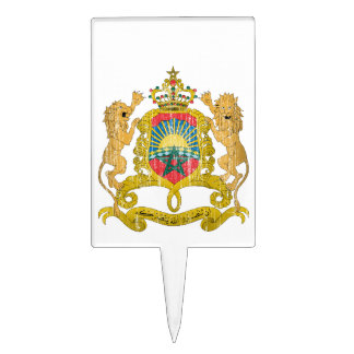 Morocco Coat Of Arms Rectangular Cake Pick