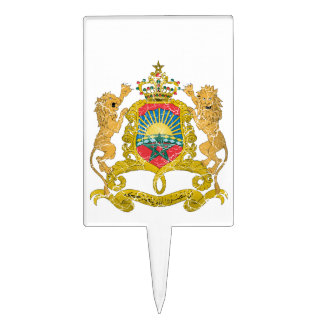 Morocco Coat Of Arms Rectangle Cake Picks