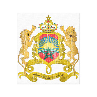 Morocco Coat Of Arms Stretched Canvas Prints