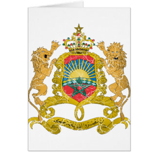 Morocco Coat Of Arms Cards