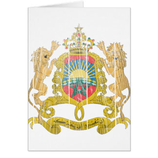 Morocco Coat Of Arms Greeting Card