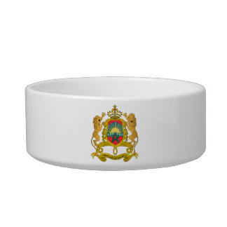 Morocco Coat Of Arms Cat Bowl