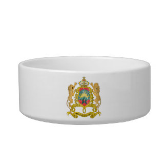 Morocco Coat Of Arms Cat Water Bowl