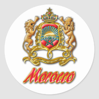 Morocco Coat of Arms Classic Round Sticker