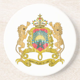 Morocco Coat Of Arms Coaster