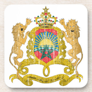 Morocco Coat Of Arms Drink Coaster