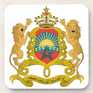 Morocco Coat Of Arms Beverage Coasters