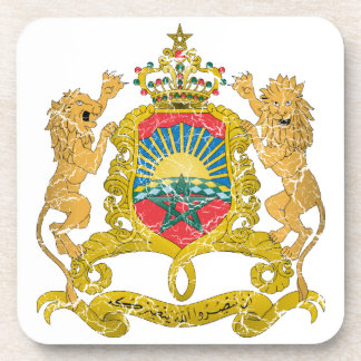 Morocco Coat Of Arms Drink Coasters