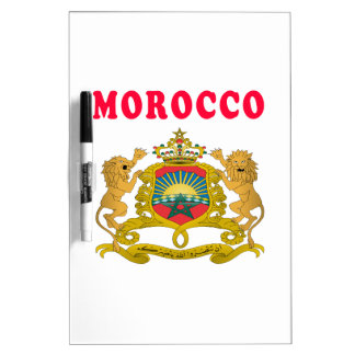 Morocco Coat Of Arms Designs Dry Erase Whiteboards