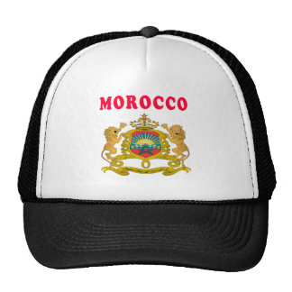Morocco Coat Of Arms Designs Mesh Hat
