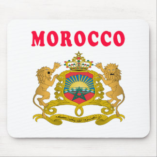 Morocco Coat Of Arms Designs Mouse Pads