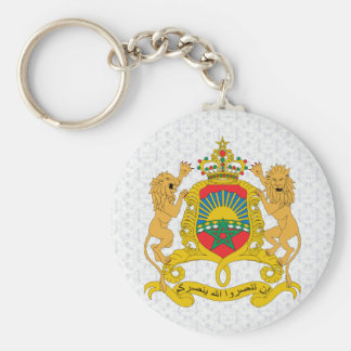 Morocco Coat of Arms detail Basic Round Button Key Ring