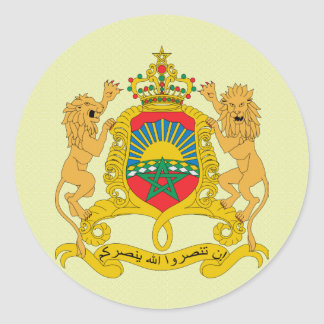 Morocco Coat of Arms detail Round Sticker
