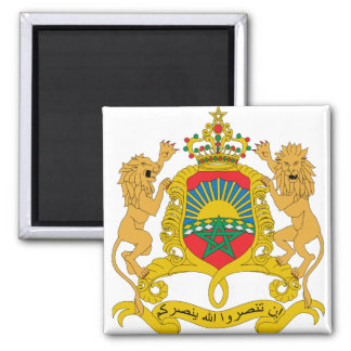 Morocco Coat of Arms detail Square Magnet